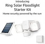 Ring Solar Floodlight, Outdoor Motion-Sensor Security Light Starter Kit $72,