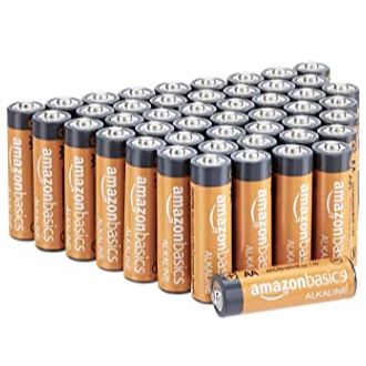 AmazonBasics AA Performance 碱性电池48个 点击Coupon后