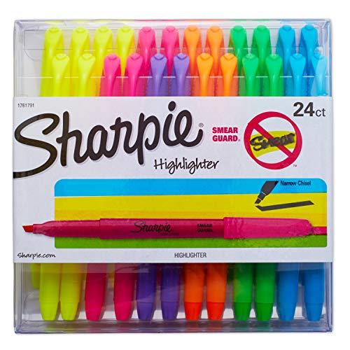 史低价!Sharpie 24支彩色荧光笔