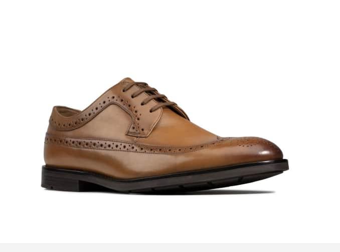 Clarks Ronnie Limit Leather Dress Shoes