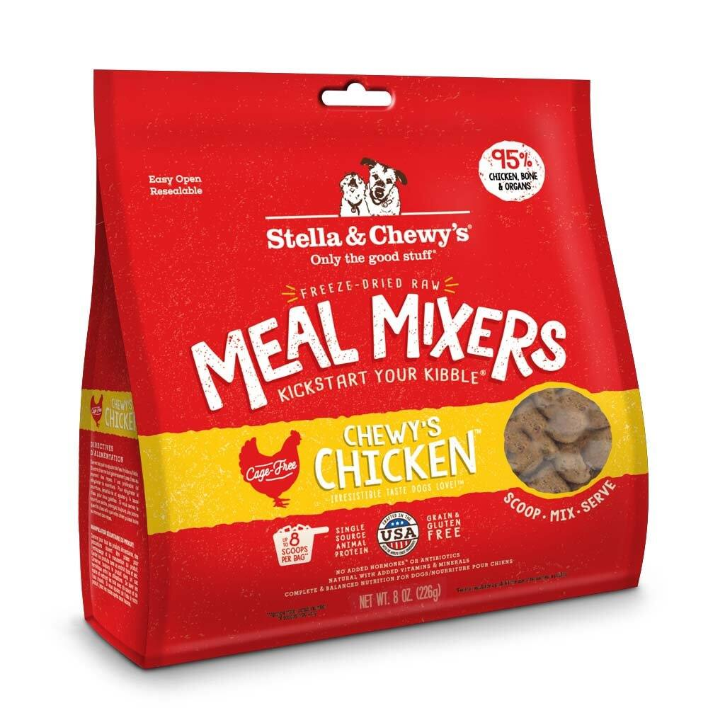 8oz Stella & Chewy's Freeze-Dried Raw Meal Mixers Dog Food Topper (various)