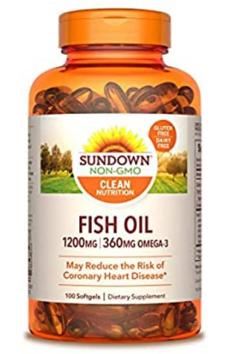 2-Pack of 100-Count Sundown Fish Oil 1200mg Softgels