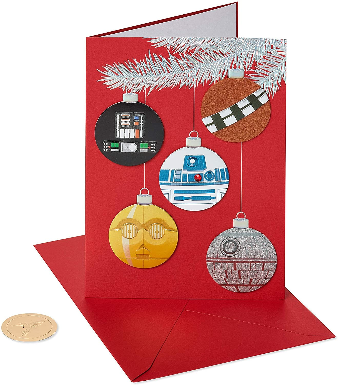 8-Count Papyrus Star Wars Holiday Ornaments Christmas Cards