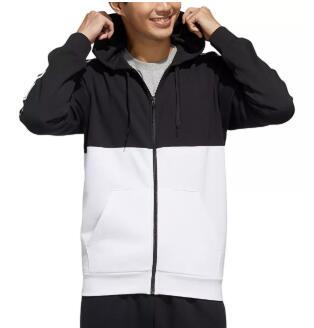 Adidas阿迪达斯男士黑白拼色外套