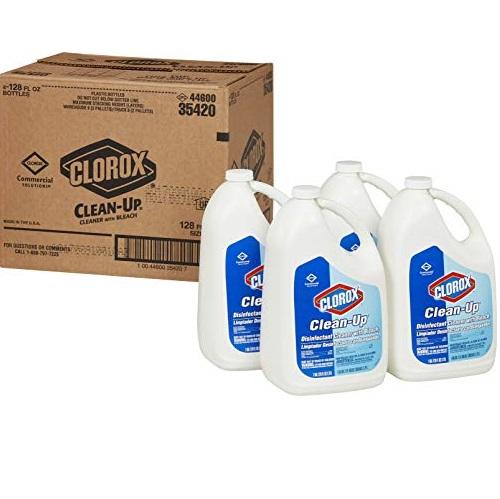 Clorox 多用途杀菌消毒清洁剂,含漂白水成分, 128 oz/桶,共4桶