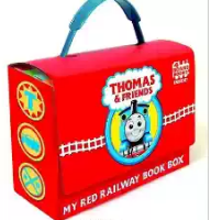 Thomas and Friends: My Red Railway Book Box (Bright & Early Board Books) Board book – Illustrated, January 8, 2008