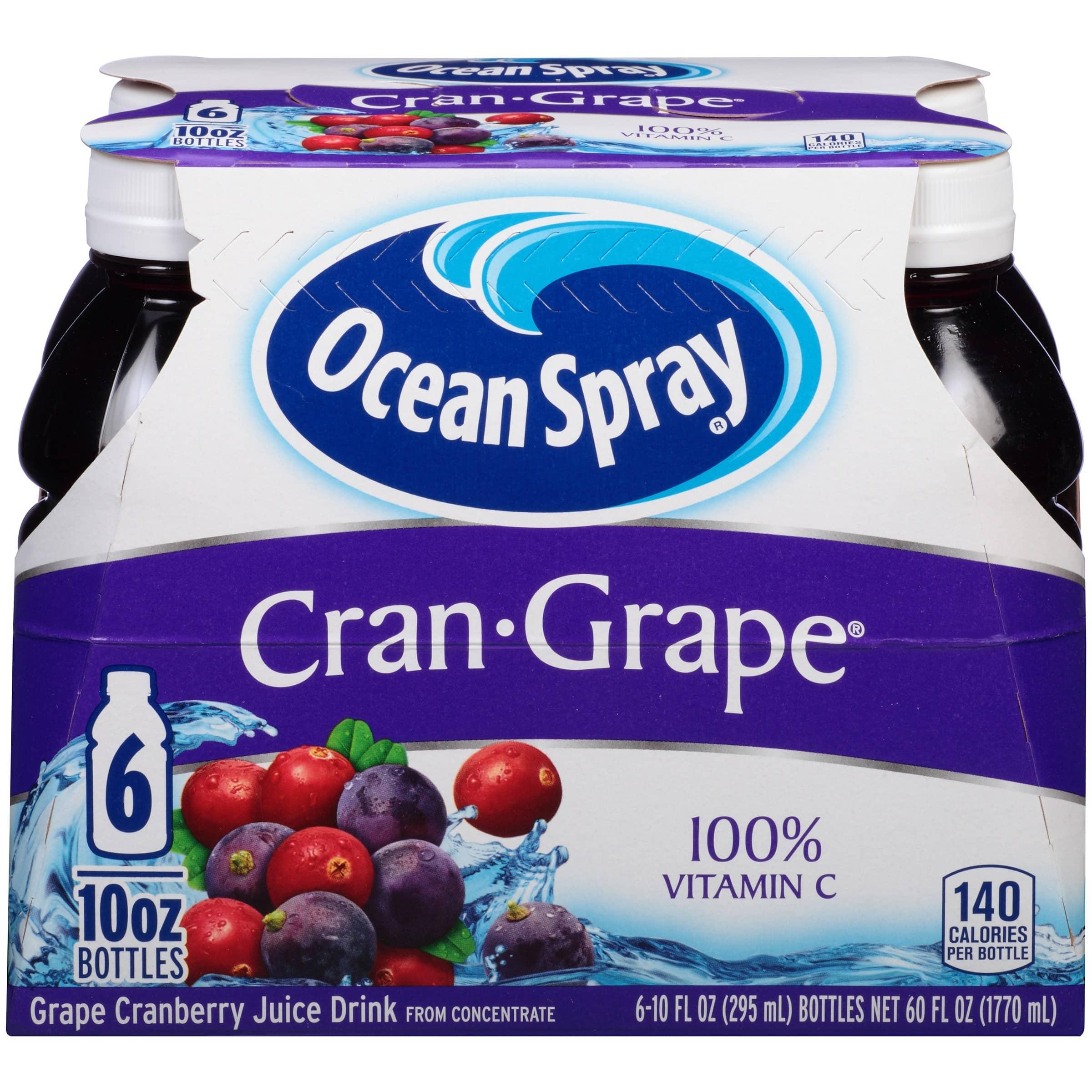 6-Pack 10-oz. Ocean Spray Juice Drinks (Various Flavors)