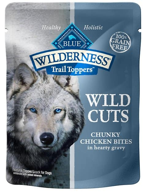 24-Pack 3oz Blue Buffalo Wilderness Trail Toppers Wild Cuts Wet Dog Food Topper
