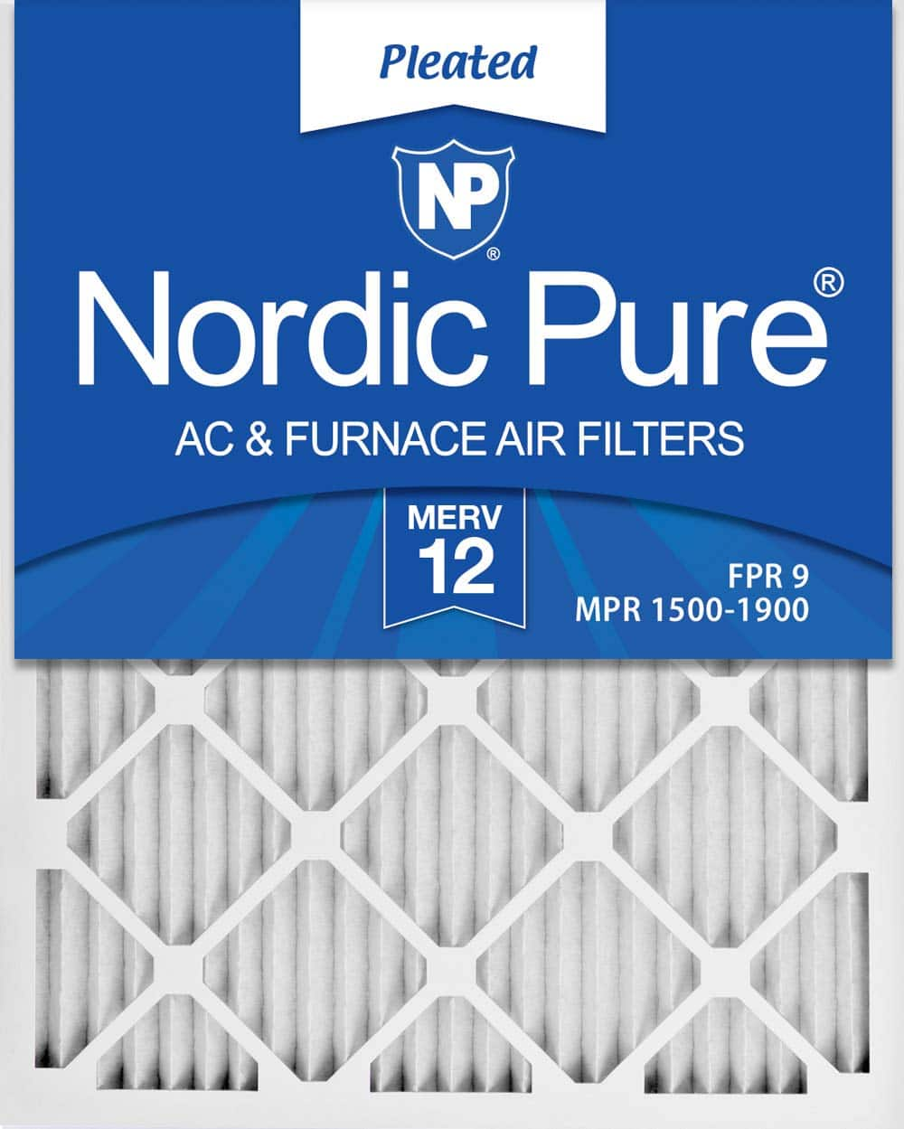 6-Pack Nordic Pure 16x25x1 MERV 12 Pleated AC Furnace Air Filters