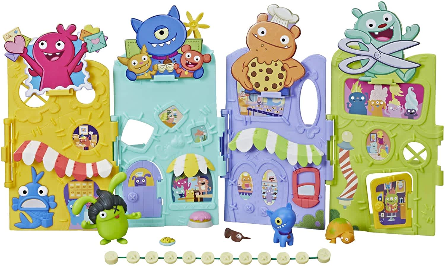 Uglyville Unfolded Main Street Playset and Portable Tote