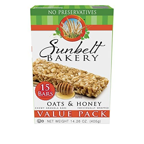 15-Count Sunbelt Bakery Oats and Honey Chewy Granola Bars