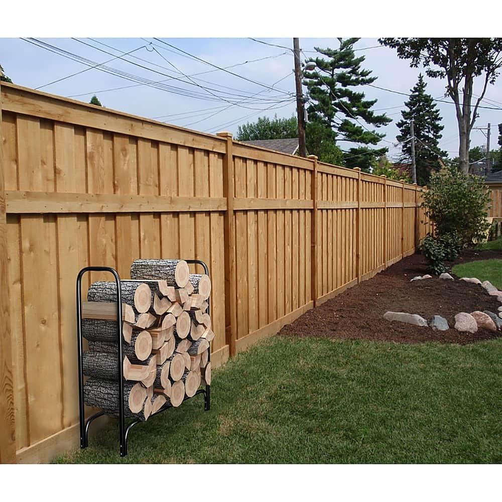 Pure Garden 4' Steel Indoor/Outdoor Firewood Pile Holder