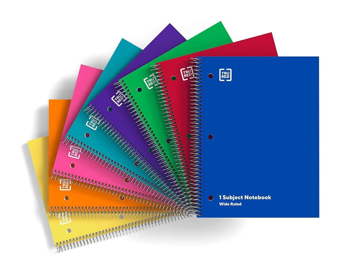 "TRU RED 8x10.5"" 1-Subject Notebook"