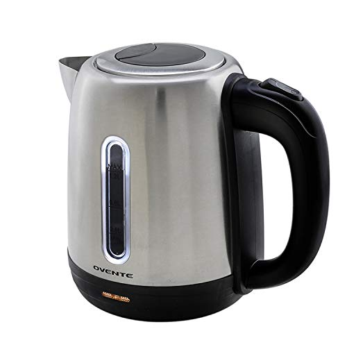 Ovente 1.7 Liter Stainless Steel Electric Kettle, BPA Free, Brushed (KS27S)
