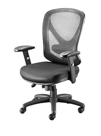 Staples Carder Mesh Back Fabric Desk Chair (Black)
