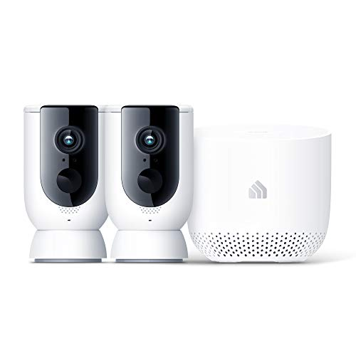 Kasa Home Security Camera System Wireless Outdoor & Indoor Camera by TP-Link, 1080P HD with Siren, Night Vision, Battery Rechargeable, Magnetic Wall Mount (KC300S2)