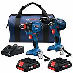 Bosch 2-Tool Core18v Power Tool Combo Kit with Soft Case