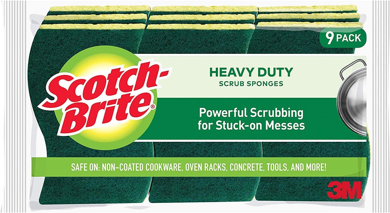 9-Count Scotch-Brite Heavy Duty Scrub Sponges