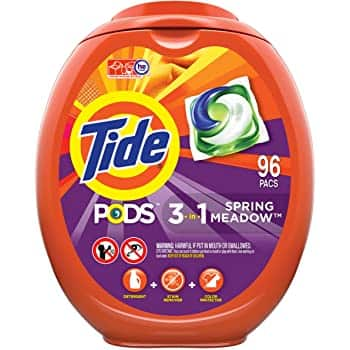 96-Count Tide Pods or Gain Flings Laundry Detergent Pacs (Various)