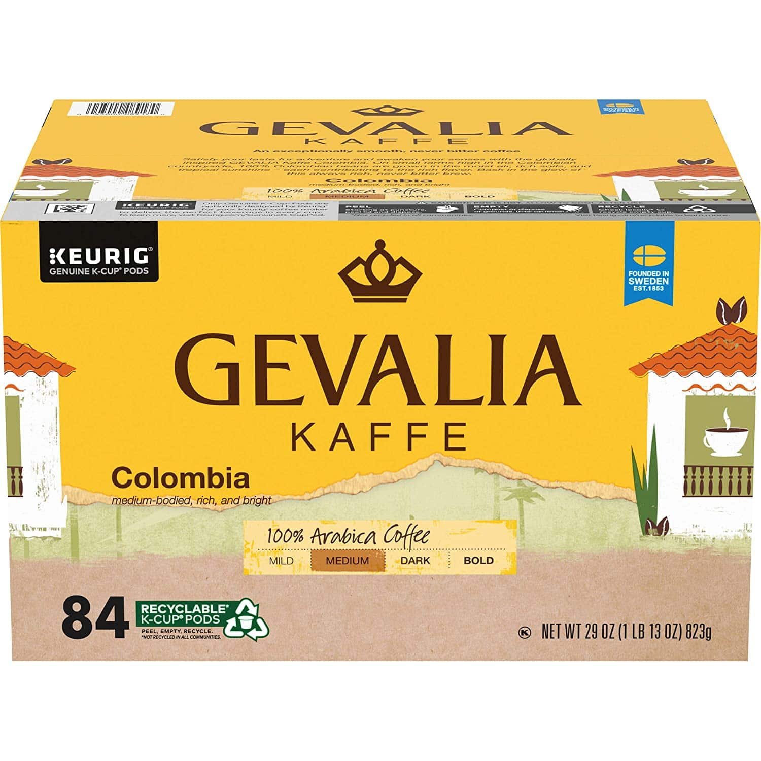 84-Count Gevalia Colombia Coffee K-Cup Pods