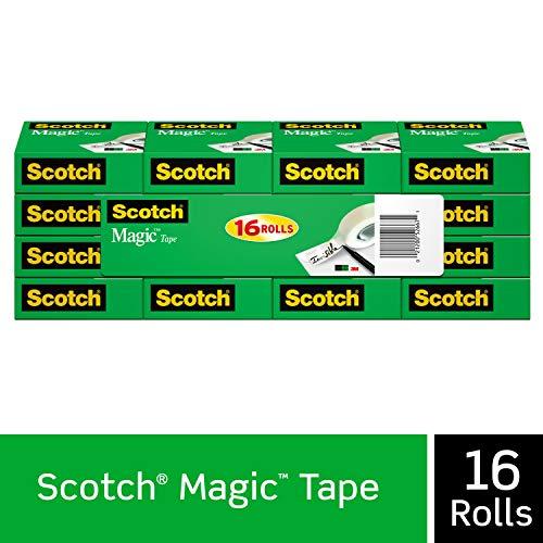 史低价!Scotch Magic Tape 透明胶带,1000吋/卷,共16卷