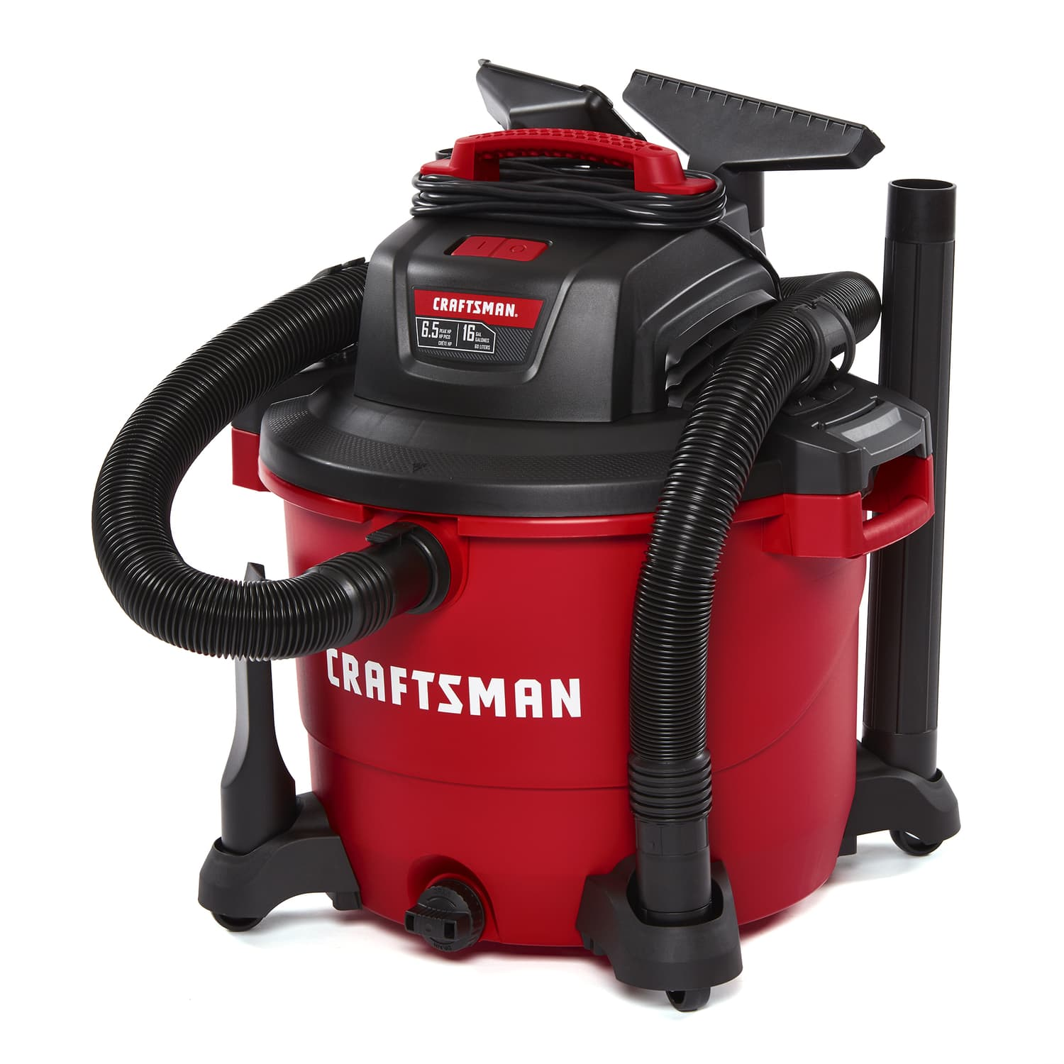 Craftsman 16-Gallon 6.5 Peak HP Wet/Dry Vacuum w/ Accessories