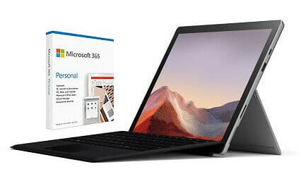 "Surface Pro 7 Ice Lake i5 12.3"" 128GB Windows Tablet w/ 1-Year Microsoft 365"