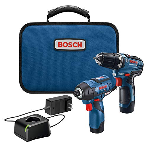 "Bosch 12V Max Kit w/ 3/8"" Drill/Driver, 1/4"" Hex Impact Driver, 2x Batteries"