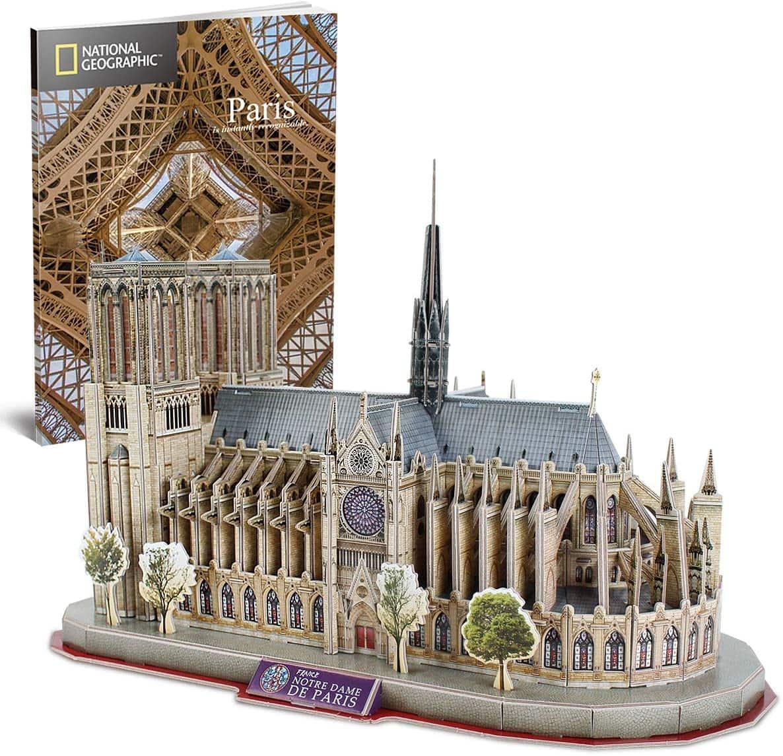 128-Piece CubicFun National Geographic Notre Dame de Paris 3D Puzzle