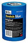 6-Pk 3M ScotchBlue Original Multi-Surfac Painter's Tape