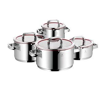 史低价!WMF 完美福 Function 4 顶级不锈钢红圈煮锅 8件套