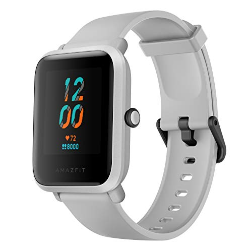 Amazfit Bip S Fitness Smartwatch, 40 Day Battery Life, 10 Sports Modes, Heart Rate, 1.28'' Always-On Display, Water Resistant, Built-in GPS, White Rock