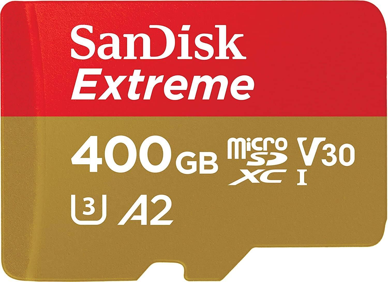 400GB SanDisk Extreme U3 A2 V30 microSD Memory Card w/ Adapter