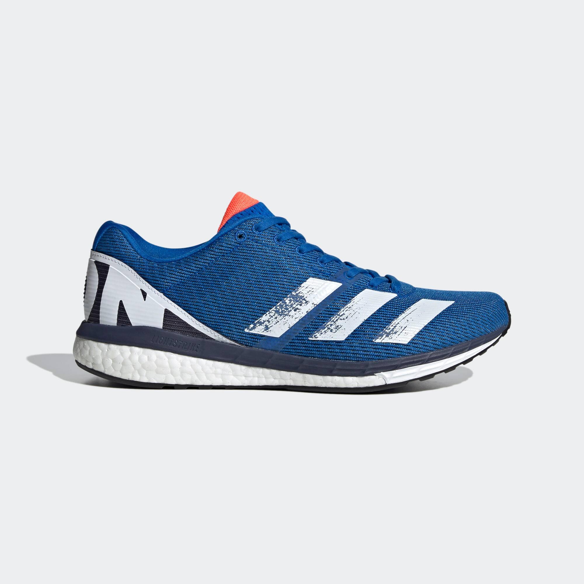 adidas Men's Adizero Boston 8 Running Shoes (blue/white)