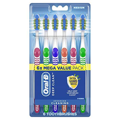 史低价! Oral-B 深度清洁牙刷, 6支装