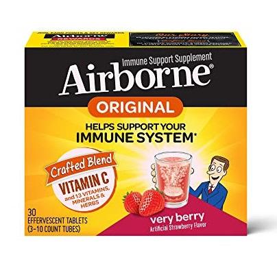 Airborne 泡腾片防感冒增免疫 精华,莓果口味,30片