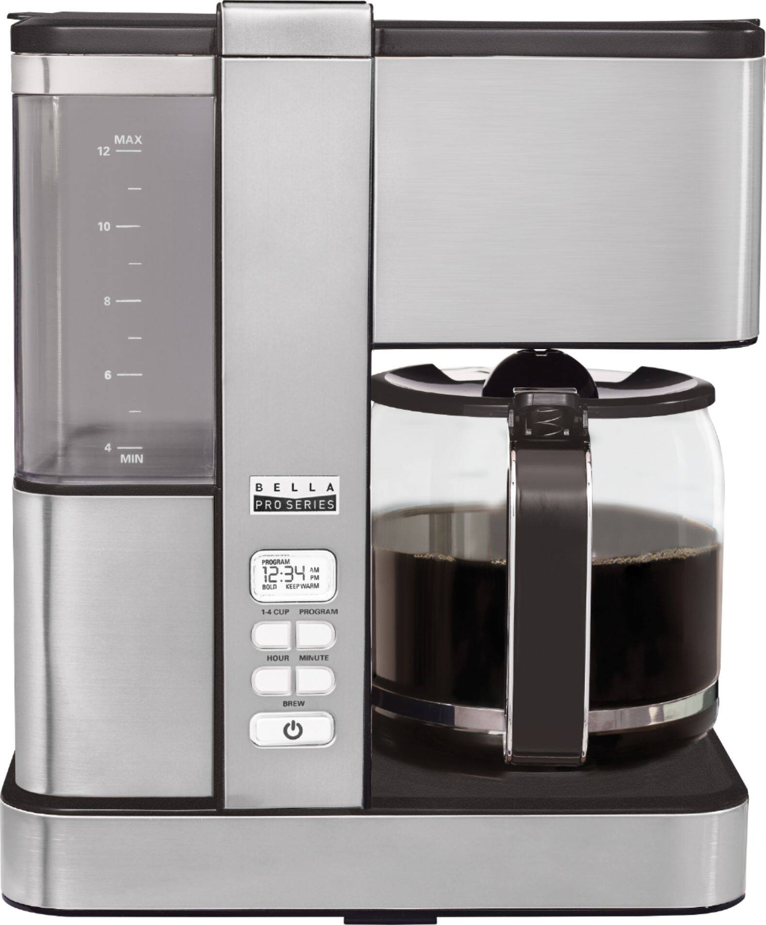 Bella Pro Series Flavor Infusion 12-Cup Coffee Maker (Stainless Steel)