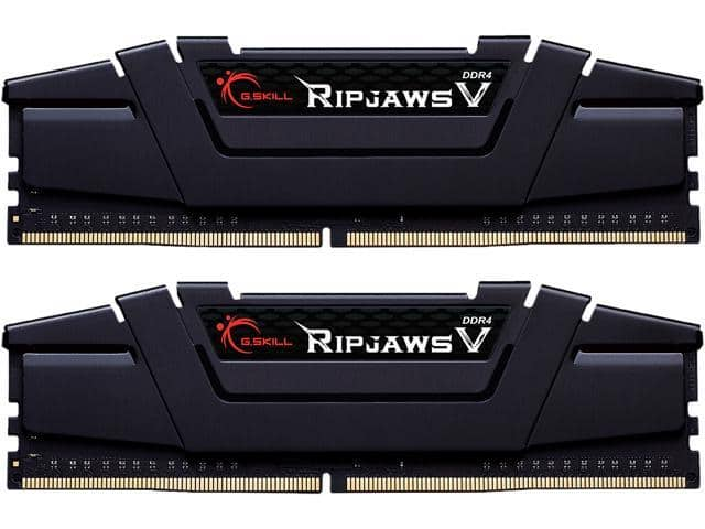 32GB (2x16GB) G.SKILL Ripjaws V Series DDR4 3600 Desktop Memory