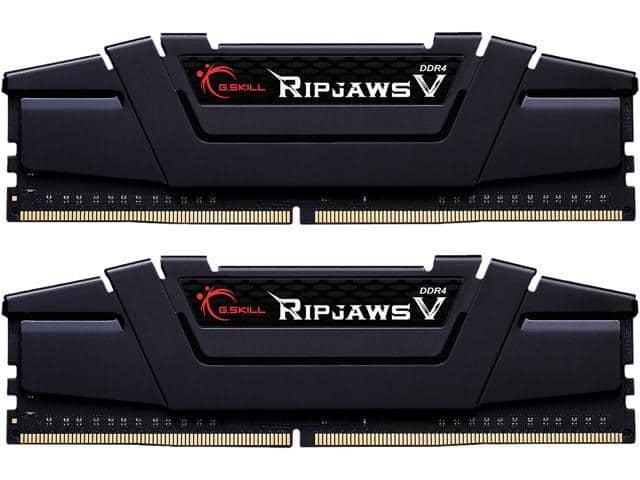 32GB (2x16GB) G.SKILL Ripjaws V Series DDR4 3600 Desktop Memory