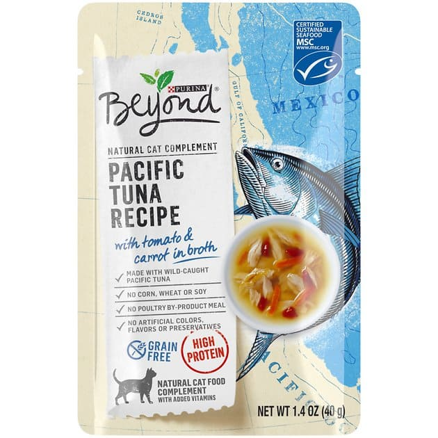 16-Pk 1.4oz Purina Beyond Grain-Free Wet Cat Food Complement: Herring $12.15, Tuna