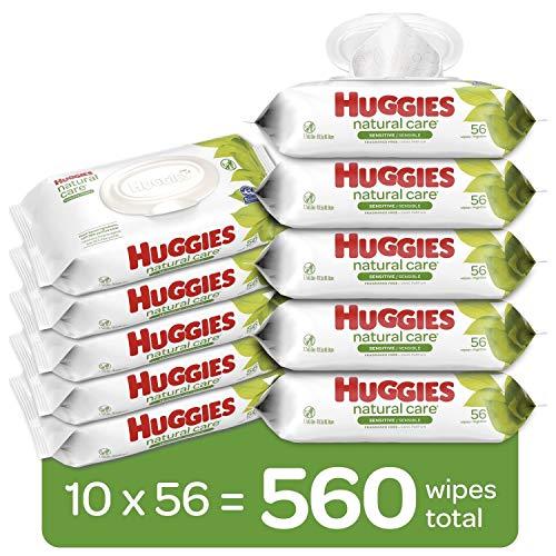 HUGGIES 婴幼儿无香型湿巾,敏感肌肤可用,10包共560抽
