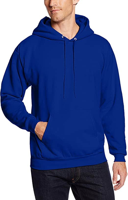 Men's Hanes Pullover Ecosmart Fleece Hooded Sweatshirt (Deep Royal Blue)