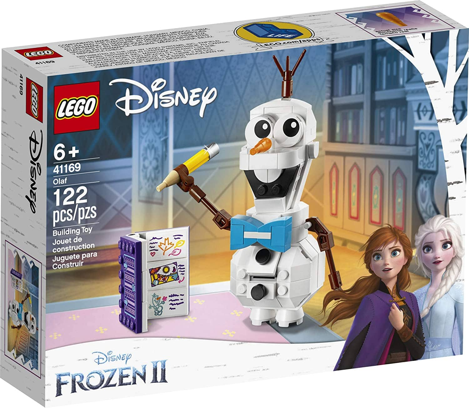 LEGO Disney Frozen II Olaf the Snowman Toy Figure Building Kit
