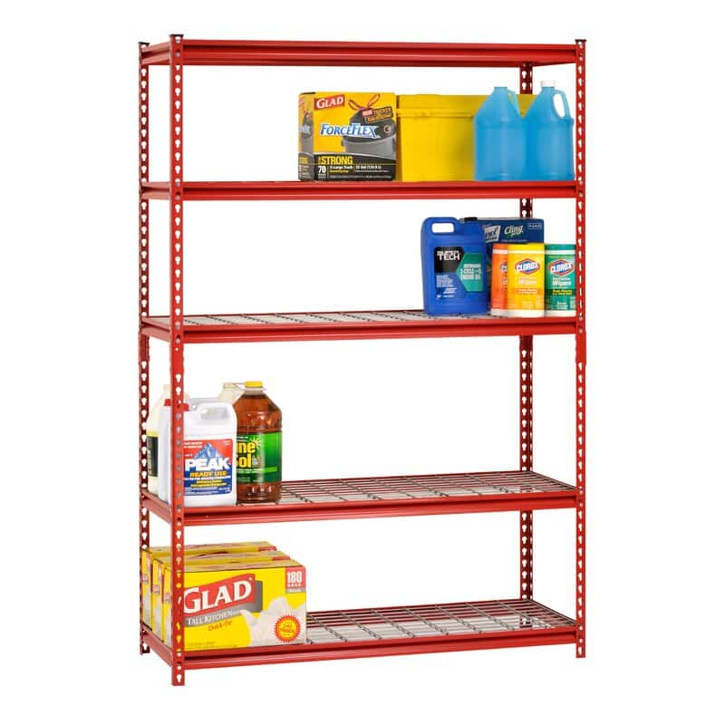 "Sandusky 72"" H x 60"" W x 24"" D 5-Tier Steel Shelving Unit"