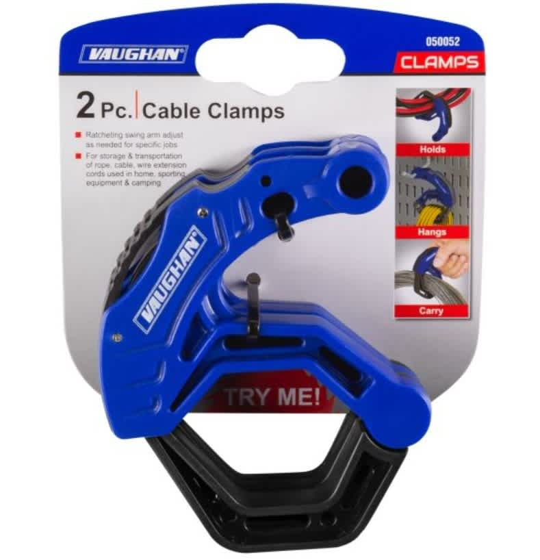 Vaughan Cable / Extension Cord Management Clamps 2-Pack