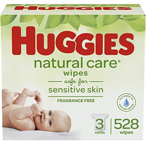 HUGGIES  Natural Care 无香型婴儿湿巾,3包共528张