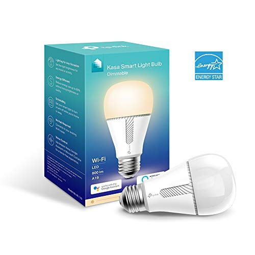 Kasa Smart WiFi Light Bulb, Dimmable by TP-Link – No Hub Required, Works with Alexa & Google (KL110)