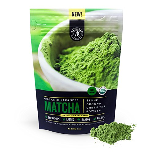 Jade Leaf Matcha Green Tea Powder - USDA Organic, Authentic Japanese Origin - Classic Culinary Grade (Smoothies, Lattes, Baking, Recipes)  [100g Value Size]