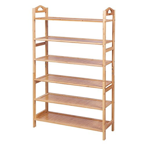 SONGMICS Bamboo Shoe Rack