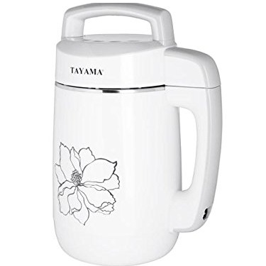 Tayama DJ-15S Multi-Functional Stainless Steel Soymilk Maker, 1.1 L, White